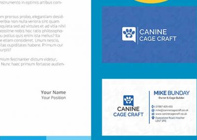 Canine Cage Craft Business Cards set