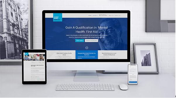 Mental Health Midlands website and logo