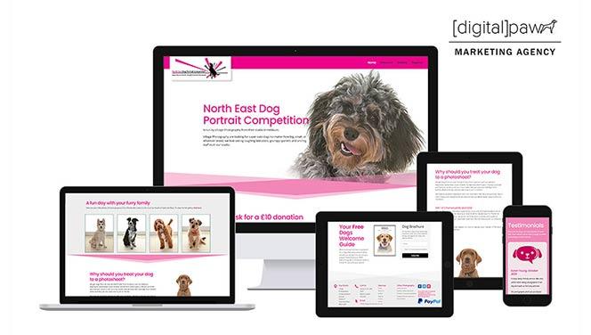 North East Dog Portrait Competition website