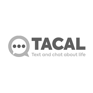 text and chat about life TACAL charity web design
