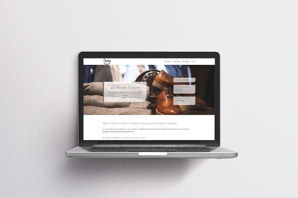 Nutty Group website design